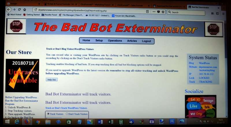 Get the Bad Bot Exterminator to protect your WordPress websites